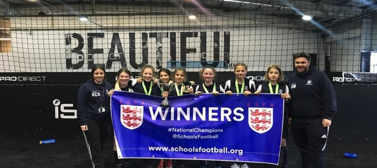 Year 7 Girls Indoor 5-a-side National Champions